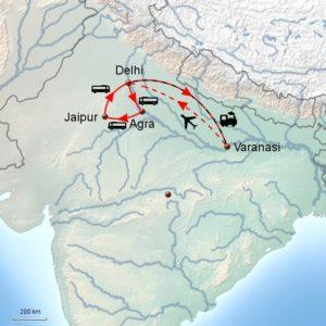 kort indien